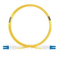 5m グレードB LC/UPC-LC/UPC デュプレックス シングルモード BIF光パッチケーブル(標準0.12dB IL、LSZH、OS2)の画像