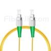5M(16ft)1550nm FC/APC 低速軸 シングルモード シンプレックス 偏波保持 光パッチケーブル(3.0mm PVC-3.0mm/OFNR)の画像