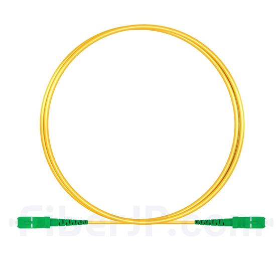 1M(3ft)1550nm SC/APC 低速軸 シングルモード シンプレックス 偏波保持 光パッチケーブル(3.0mm PVC-3.0mm/OFNR)の画像