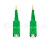 2M(7ft)1550nm SC/APC 低速軸 シングルモード シンプレックス 偏波保持 光パッチケーブル(3.0mm PVC-3.0mm/OFNR)の画像