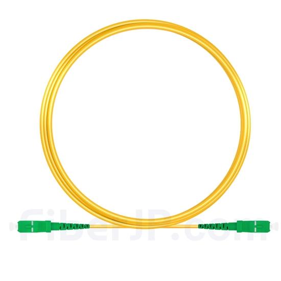 5M(16ft)1550nm SC/APC 低速軸 シングルモード シンプレックス 偏波保持 光パッチケーブル(3.0mm PVC-3.0mm/OFNR)の画像