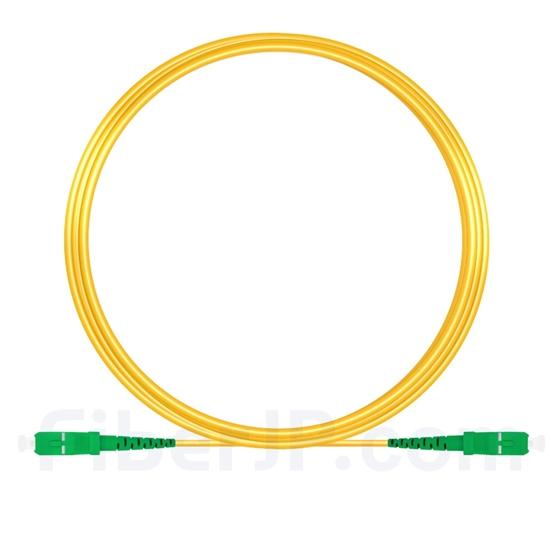 10M(33ft)1550nm SC/APC 低速軸 シングルモード シンプレックス 偏波保持 光パッチケーブル(3.0mm PVC-3.0mm/OFNR)の画像