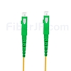 20M(66ft)1550nm SC/APC 低速軸 シングルモード シンプレックス 偏波保持 光パッチケーブル(3.0mm PVC-3.0mm/OFNR)の画像