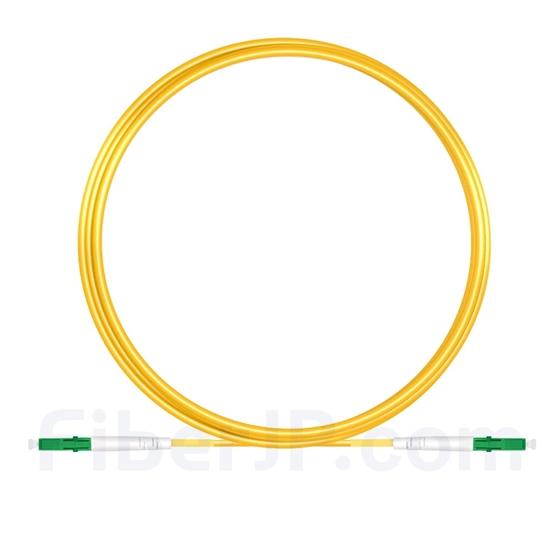 5M(16ft)1550nm LC/APC 低速軸 シングルモード シンプレックス 偏波保持 光パッチケーブル(3.0mm PVC-3.0mm/OFNR)の画像