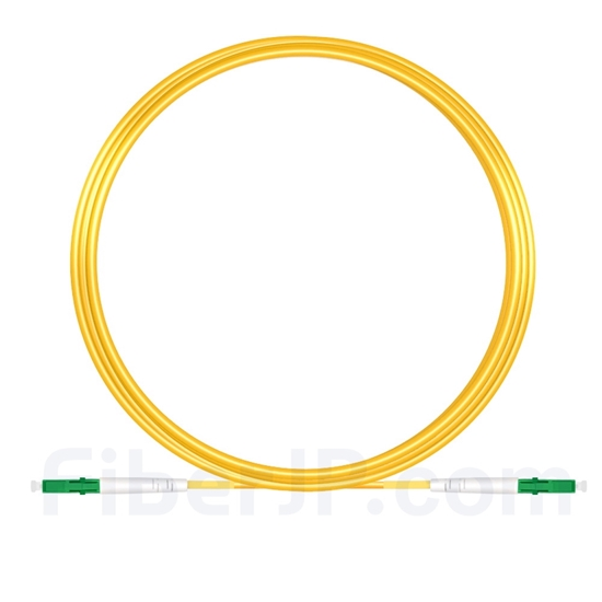 10M(33ft)1550nm LC/APC 低速軸 シングルモード シンプレックス 偏波保持 光パッチケーブル(3.0mm PVC-3.0mm/OFNR)の画像