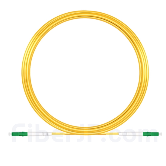 15M(49ft)1550nm LC/APC 低速軸 シングルモード シンプレックス 偏波保持 光パッチケーブル(3.0mm PVC-3.0mm/OFNR)の画像