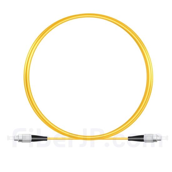 2M(7ft)1550nm FC/UPC 低速軸 シングルモード シンプレックス 偏波保持 光パッチケーブル(3.0mm PVC-3.0mm/OFNR)の画像