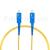 3M(10ft)1550nm SC/UPC 低速軸 シングルモード シンプレックス 偏波保持 光パッチケーブル(3.0mm PVC-3.0mm/OFNR)の画像