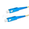 5M(16ft)1550nm SC/UPC 低速軸 シングルモード シンプレックス 偏波保持 光パッチケーブル(3.0mm PVC-3.0mm/OFNR)の画像
