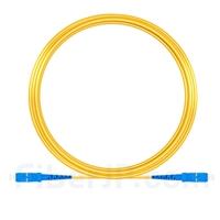 15M(49ft)1550nm SC/UPC 低速軸 シングルモード シンプレックス 偏波保持 光パッチケーブル(3.0mm PVC-3.0mm/OFNR)の画像