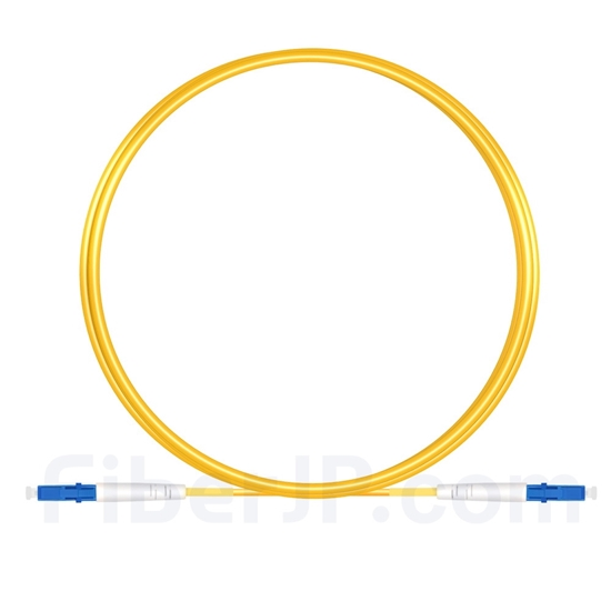 3M(10ft)1550nm LC/UPC 低速軸 シングルモード シンプレックス 偏波保持 光パッチケーブル(3.0mm PVC-3.0mm/OFNR)の画像