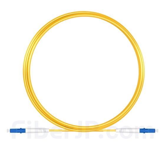 5M(16ft)1550nm LC/UPC 低速軸 シングルモード シンプレックス 偏波保持 光パッチケーブル(3.0mm PVC-3.0mm/OFNR)の画像