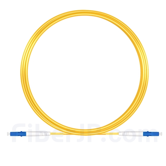10M(33ft)1550nm LC/UPC 低速軸 シングルモード シンプレックス 偏波保持 光パッチケーブル(3.0mm PVC-3.0mm/OFNR)の画像