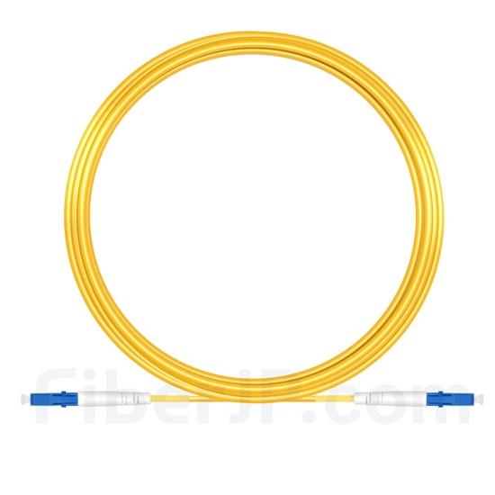 15M(49ft)1550nm LC/UPC 低速軸 シングルモード シンプレックス 偏波保持 光パッチケーブル(3.0mm PVC-3.0mm/OFNR)の画像