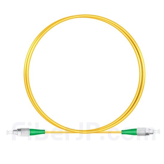 1M(3ft)1310nm FC/APC 低速軸 シングルモード シンプレックス 偏波保持 光パッチケーブル(3.0mm PVC-3.0mm/OFNR)の画像
