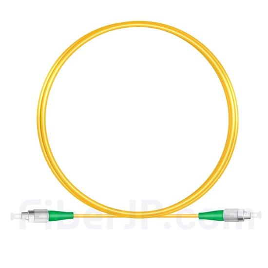 2M(7ft)1310nm FC/APC 低速軸 シングルモード シンプレックス 偏波保持 光パッチケーブル(3.0mm PVC-3.0mm/OFNR)の画像
