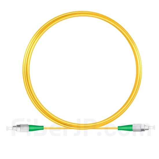 5M(16ft)310nm FC/APC 低速軸 シングルモード シンプレックス 偏波保持 光パッチケーブル(3.0mm PVC-3.0mm/OFNR)の画像