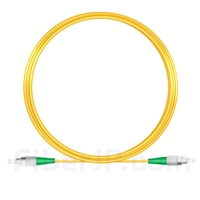 10M(33ft)1310nm FC/APC 低速軸 シングルモード シンプレックス 偏波保持 光パッチケーブル(3.0mm PVC-3.0mm/OFNR)の画像
