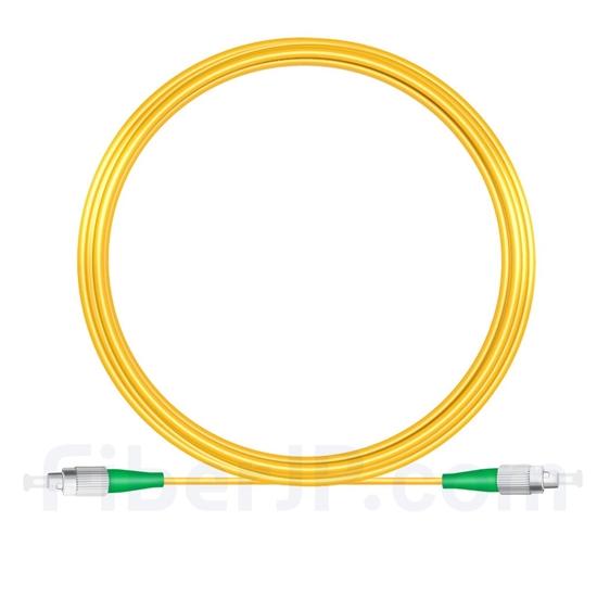 15M(49ft)1310nm FC/APC 低速軸 シングルモード シンプレックス 偏波保持 光パッチケーブル(3.0mm PVC-3.0mm/OFNR)の画像