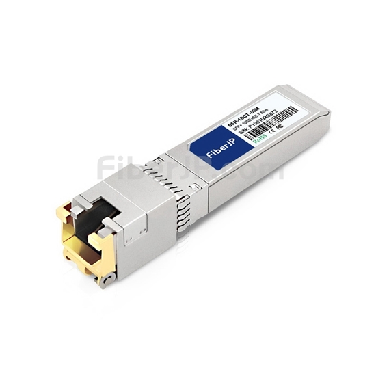 汎用 対応互換 10GBASE-T SFP+モジュール(RJ-45銅製 80m)の画像