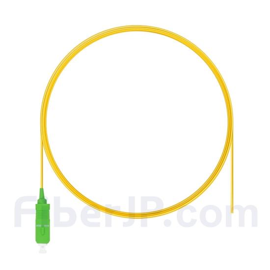 2m シンプレックス SC/APC シングルモード 光ファイバピグテール(0.9mm PVCジャケット、9/125)の画像