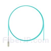 1m シンプレックス LC/UPC マルチモード ピッグテール光ファイバケーブル(0.9mm LSZH、50/125 OM3)の画像