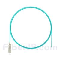 2m シンプレックス SC/UPC マルチモード ピッグテール光ファイバケーブル(0.9mm LSZH、50/125 OM3)の画像
