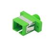FC/APC-SC/APC ハイブリッド シンプレックス シングルモード プラスチック製光ファイバアダプター/嵌合スリーブ(メス-メス)の画像