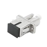 SC-LC ハイブリッド シンプレックス 金属製光ファイバアダプター/嵌合スリーブ(メス-メス)の画像
