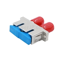 ST-SC ハイブリッド デュプレックス 金属製光ファイバアダプター/嵌合スリーブ(メス-メス)の画像