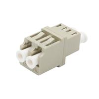 LC/UPC-LC/UPC デュプレックス マルチモード 標準型光ファイバアダプター/嵌合スリーブ(OM1/OM2、フランジなし )