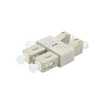 LC/UPCメス-SC/UPCオス デュプレックス プラスチック製光ファイバアダプター(OM1)の画像