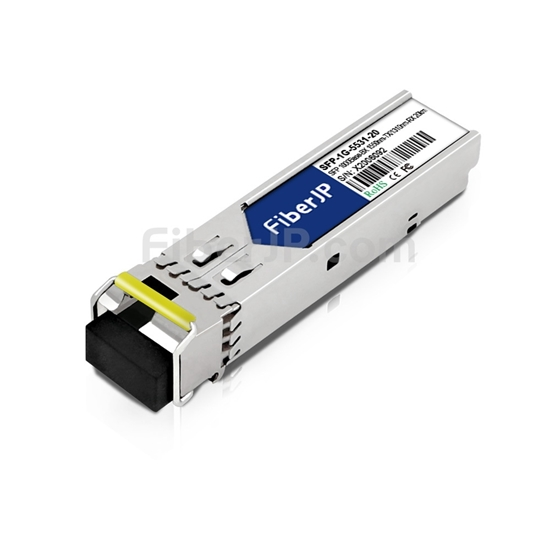 Moxa SFP-1G10BLC互換 1000Base-BX SFPモジュール 1550nm-TX/1310nm-RX 20km SMF(LCシンプレクス) DOMの画像