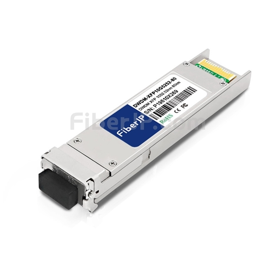 ADVA 1061701423-05互換 10GBase-DWDM XFPモジュール 1552.52nm 80km SMF(LCデュプレックス) DOMの画像