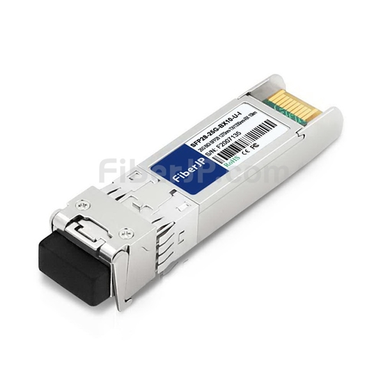 工業用 HUAWEI 25GBase-BX-U-I互換 25GBASE-BX10-U SFP28モジュール(1270nm-TX/1330nm-RX 10km DOM)の画像