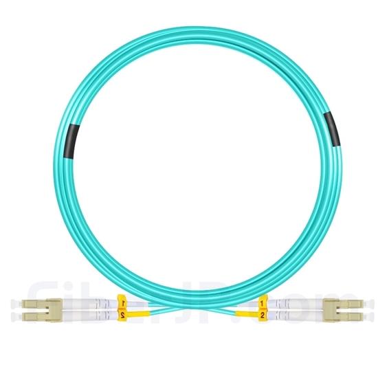 50m LC/UPC-LC/UPC デュプレックス マルチモード 光パッチケーブル(2.0mm LSZH OM3)の画像